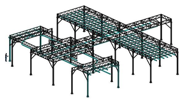 металлоконструкция для подвески сварочного оборудования