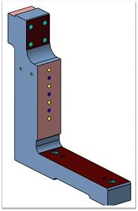 консольная стойка для зажимов