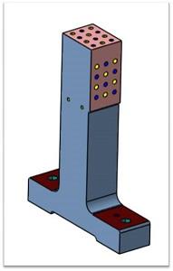 консольная стойка для центрирующих пальцев